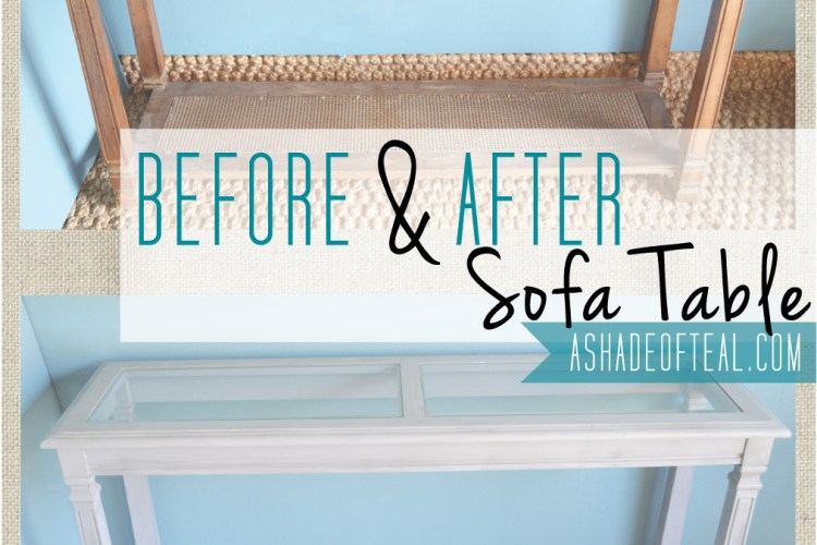 Before+After: Sofa Table