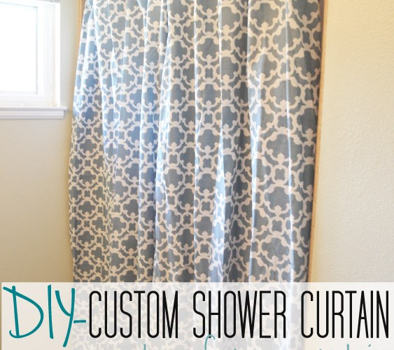 Making an Extra Long Shower Curtain from any Curtain