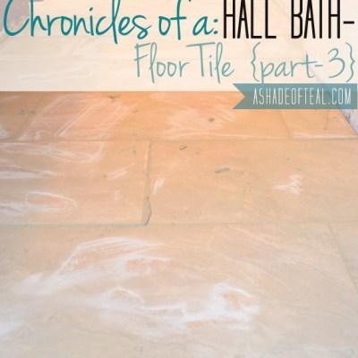 Hall Bath Chronicles- Tile Floor Pt3