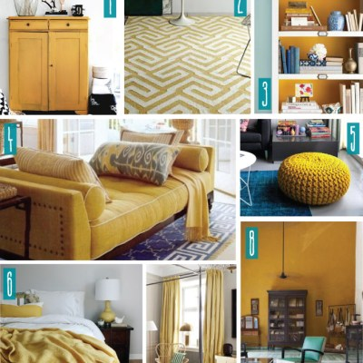 Color Series; Decorating with Mustard