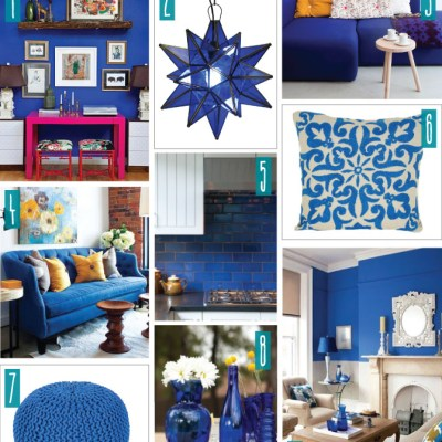 Color Series; Decorating with Cobalt Blue