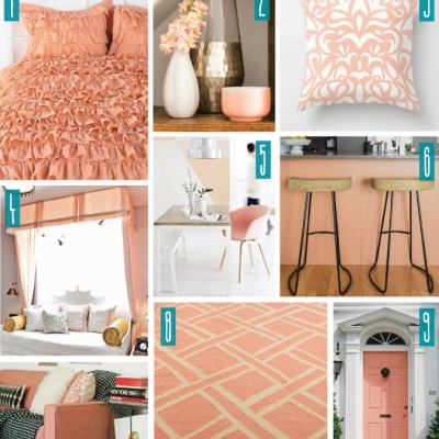 Color Series; Decorating with Peach