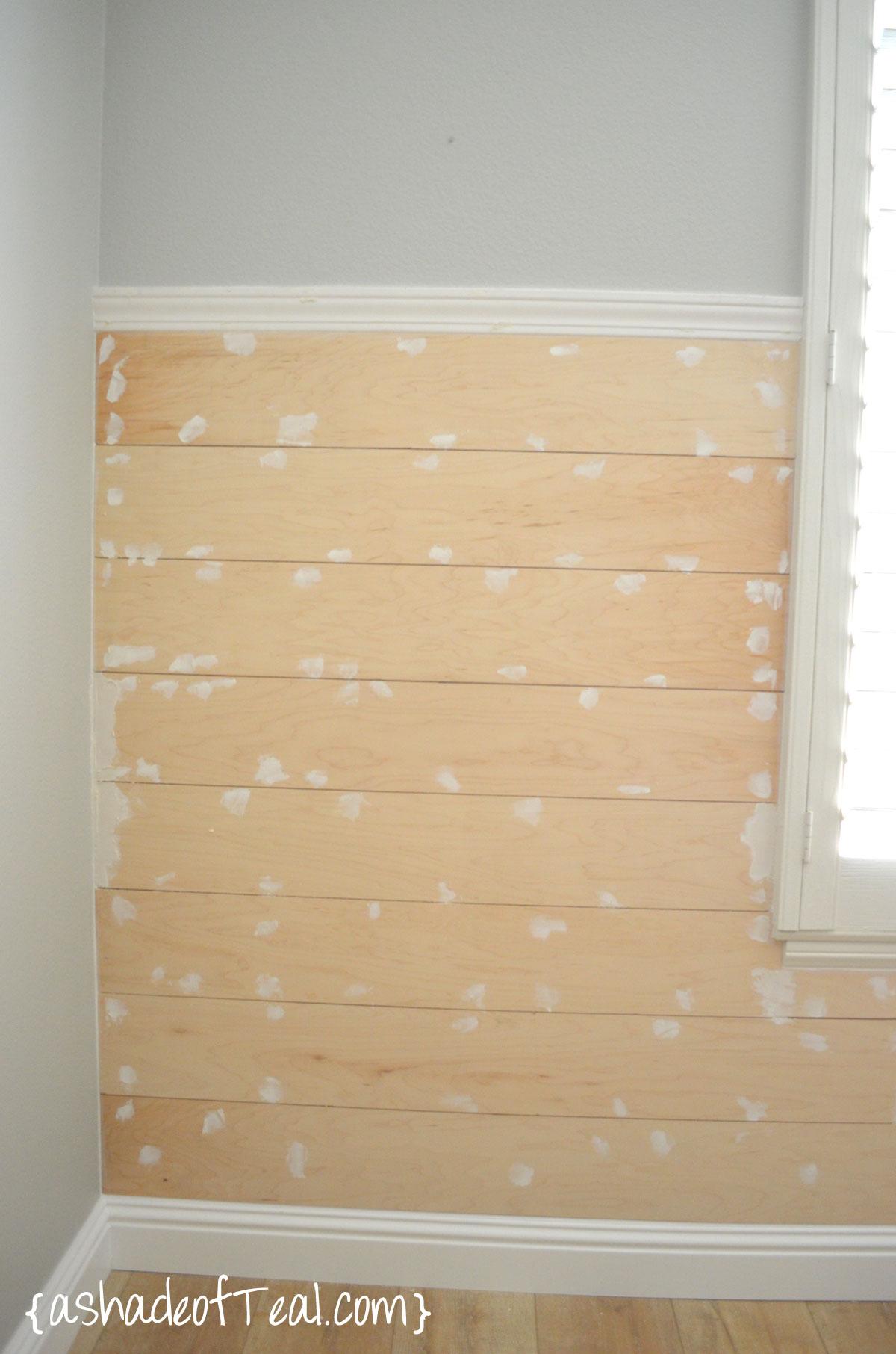 DIY- Faux Shiplap Wall