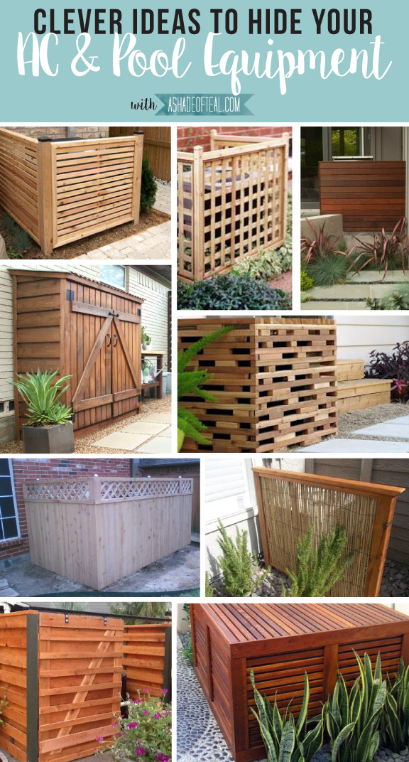 Landscaping Ideas To Hide Pool Equipment excellent ideas pool equipment enclosure ideas pleasing unique landscaping for hiding equipment Clever Ways To Hide Ac Pool Equipment