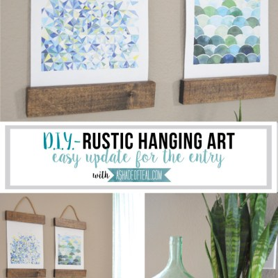 Easy Rustic Hanging Art for the Entry; Plus Blog Hop & Linky Party!