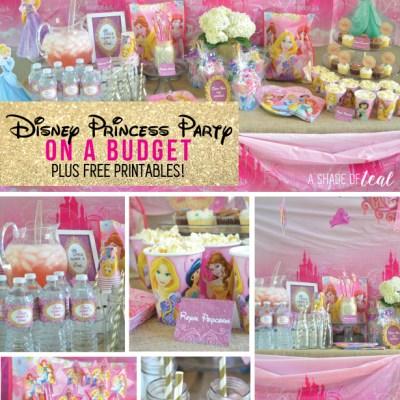 A Disney Princess Party on a Budget, plus free Printables!