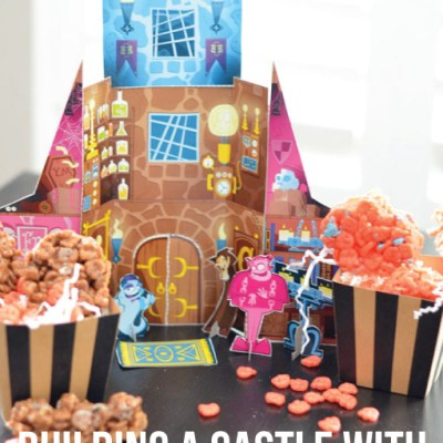 Building a Cereal Box Castle with Marshmallow Treats