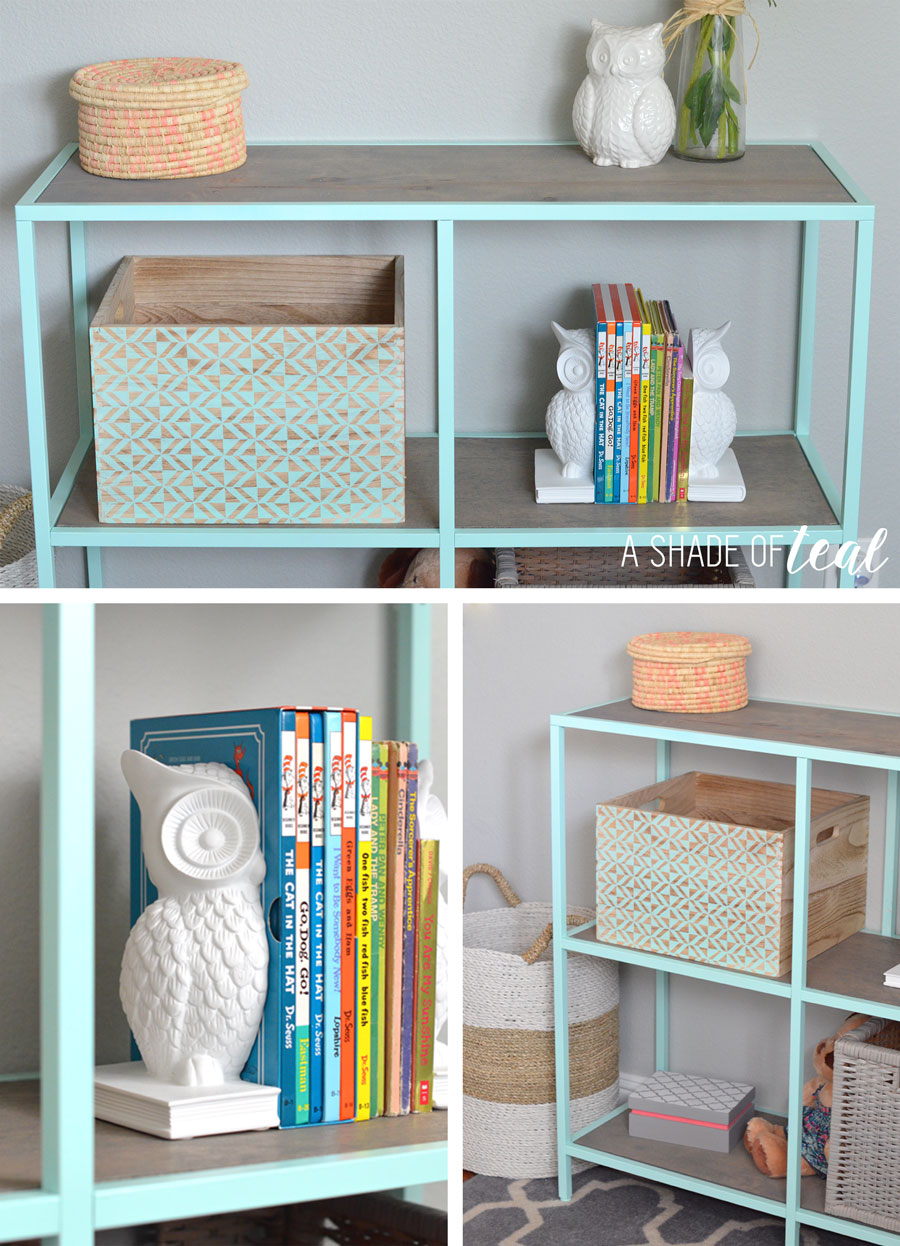 big girl room ikea vittsjo hack mint bookshelf. Black Bedroom Furniture Sets. Home Design Ideas