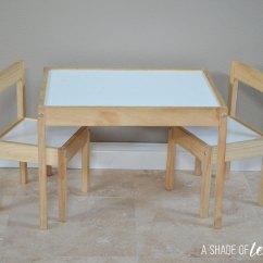 Ikea Kids Table And Chairs Qatar Airways Wheelchair Hack Latt Makeover As