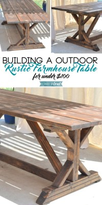 Building a Outdoor Rustic Farmhouse Table | A Shade Of Teal