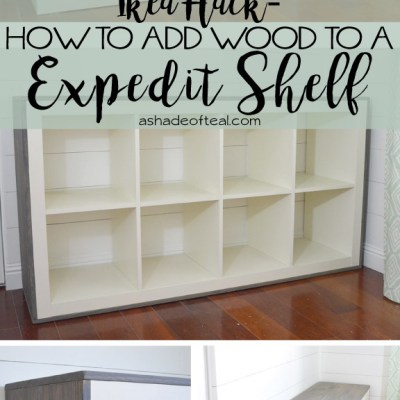 How to add Wood to a IKEA Expedit Cube Shelf