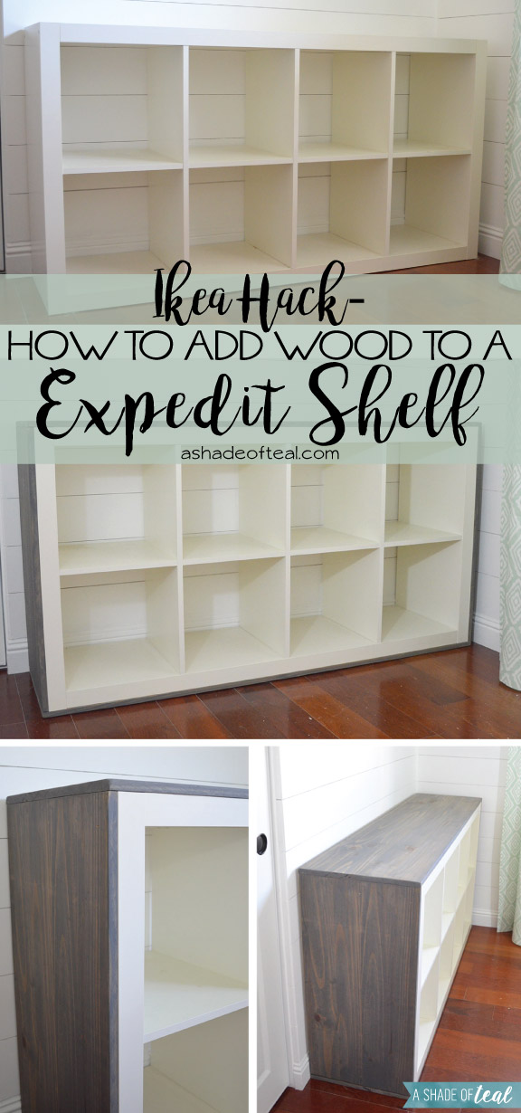 How to add wood to a ikea expedit cube shelf - Etagere cube ikea expedit ...