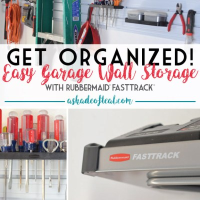 Get Organized! Easy Garage Wall Storage