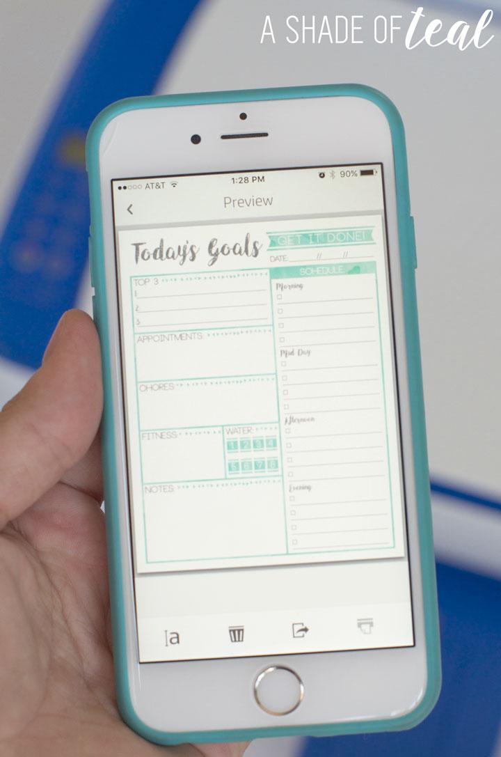 free weekly planner goal s printable