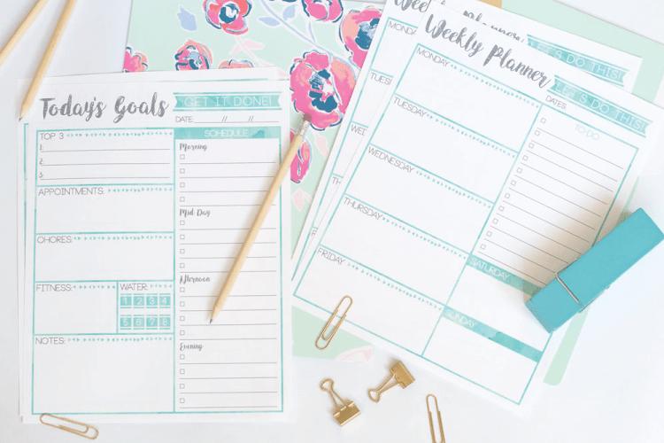 Free Weekly Planner & Goal's Printable