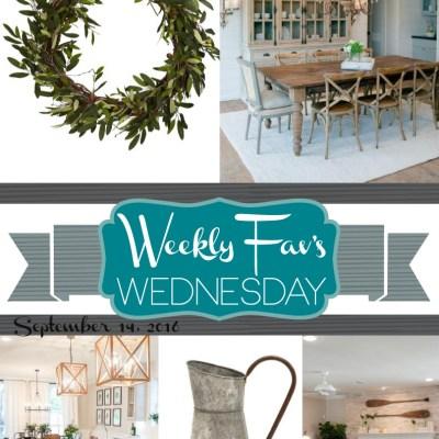 Weekly Fav's Wednesday {9.14.16}