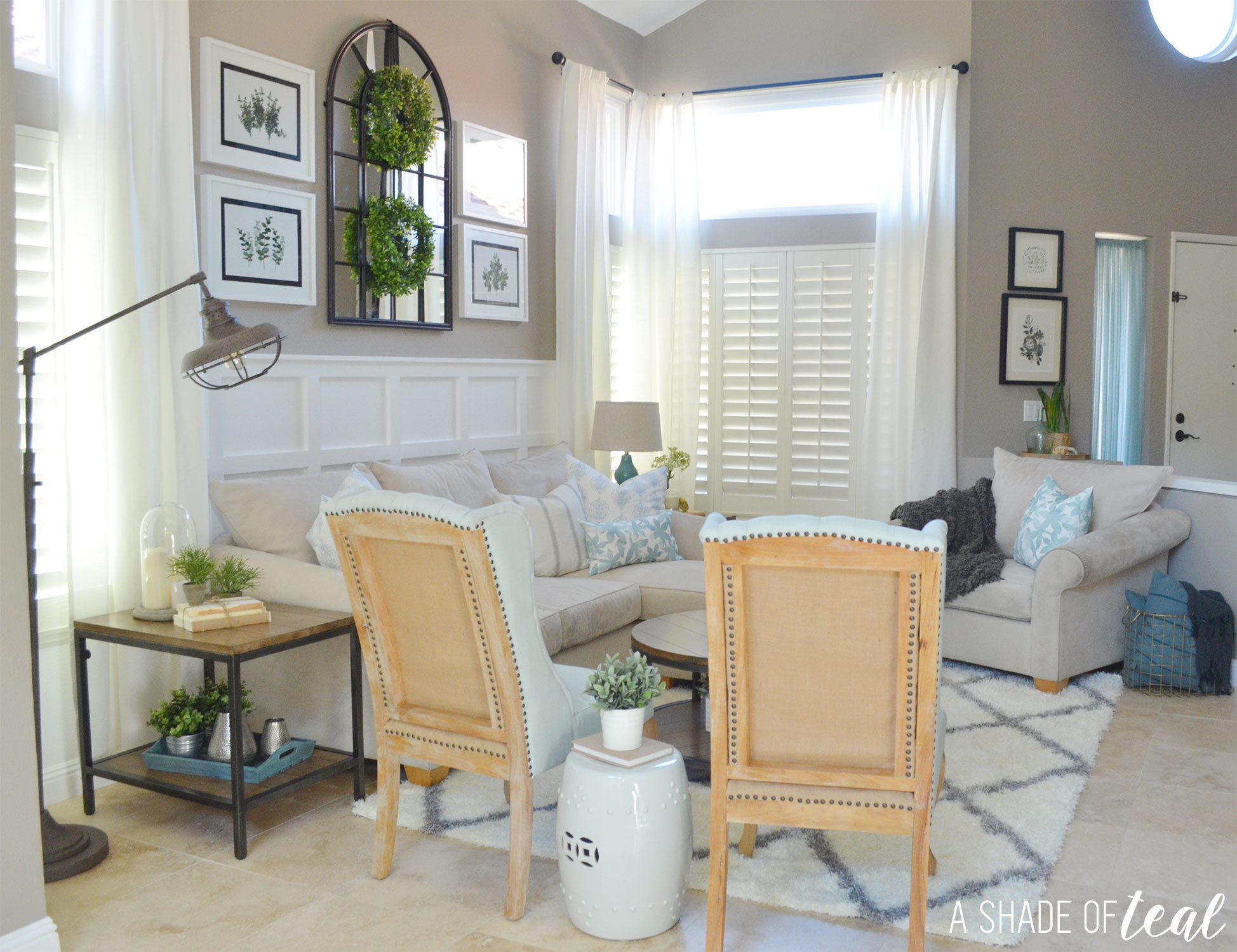 Modern rustic dining living room orc living room reveal - Modern rustic apartment living room ...