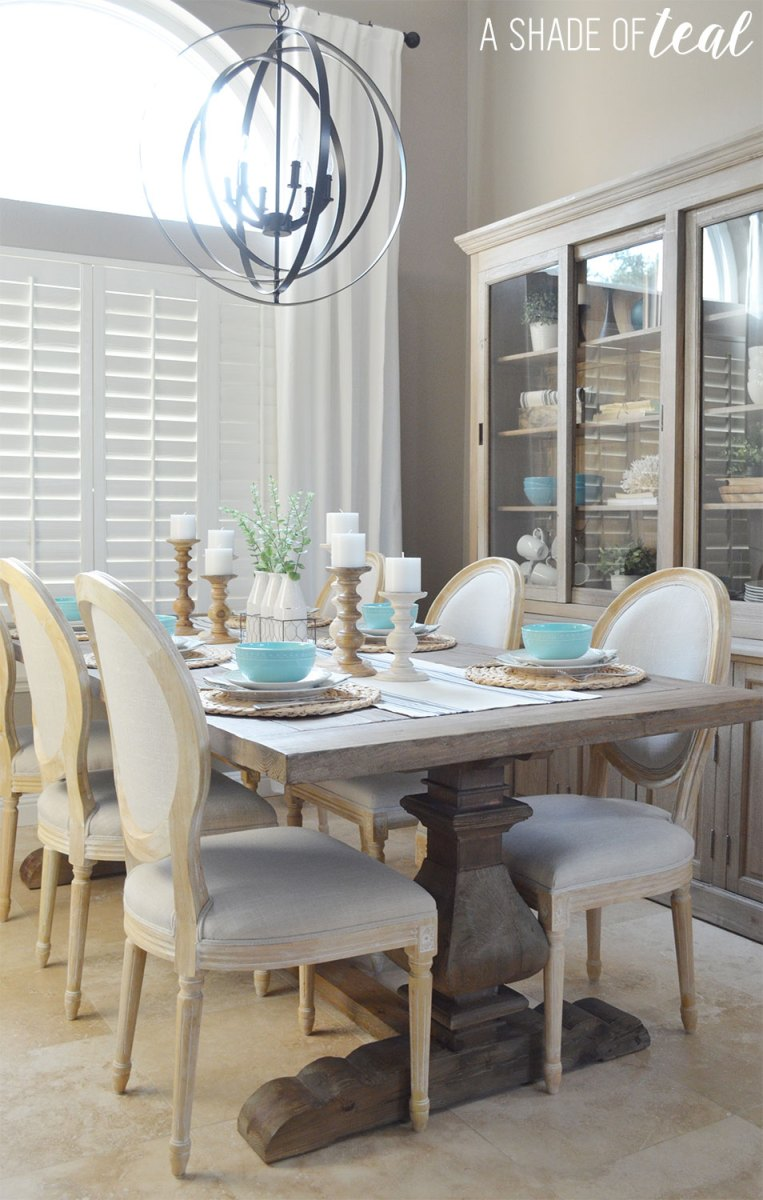 Urban Living Room: Modern Rustic Dining & Living Room // ORC: Dining Room Reveal