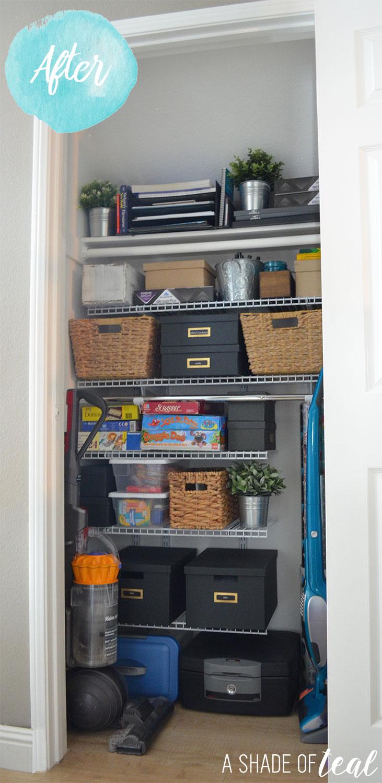 makeover get organized storage as closet rubbermaid