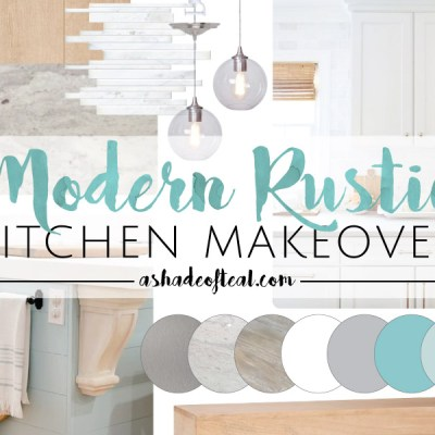 Modern Rustic Kitchen Makeover // ORC Week-2: Inspiration