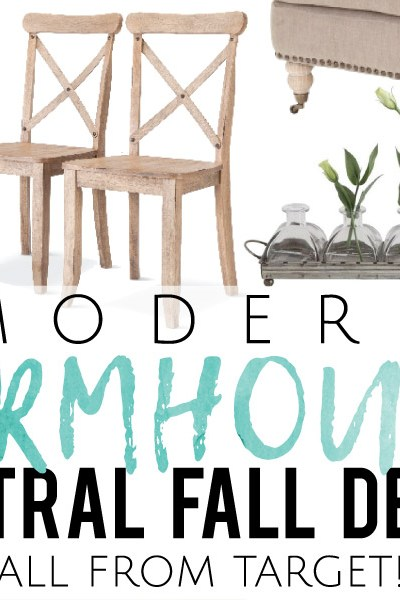 Modern Farmhouse Neutral Fall Decor, all from Target!