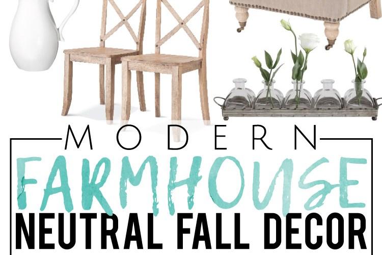 Modern Farmhouse Neutral Fall Decor, all from Target!