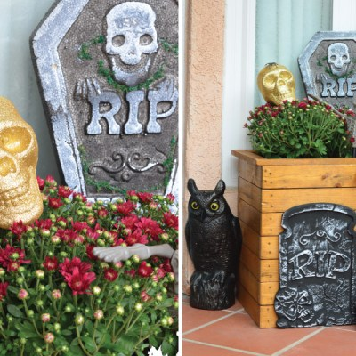 Spooky Halloween Front Door, Budget Finds for Under $1