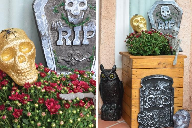 Spooky Halloween Front Door, Budget Finds for Under $1
