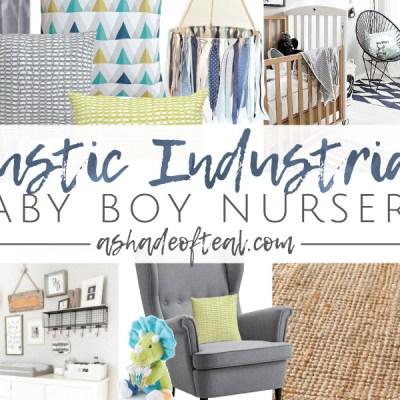 Rustic Industrial Baby Boy Nursery // ORC Week-2: Inspiration