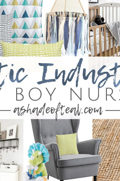 Rustic Industrial Baby Boy Nursery // ORC Week-2: Inspiration