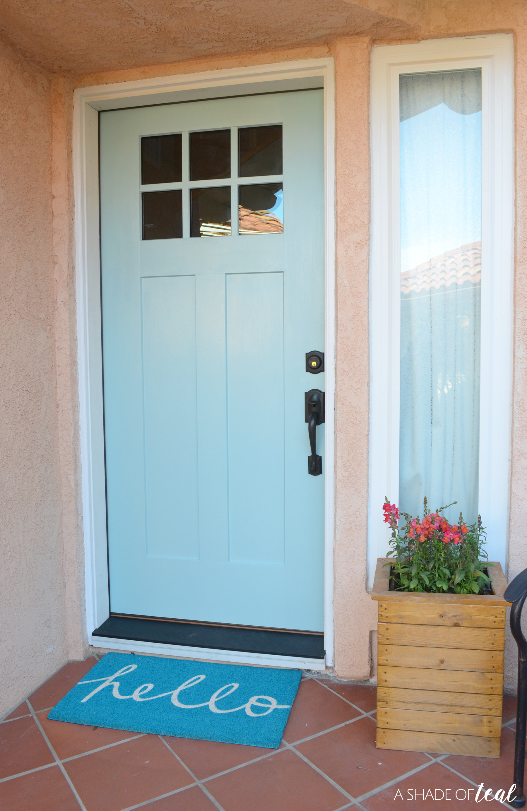 Below Is A Before Picture Of Our Builder Grade Door. This Picture Was After  I Gave It A New Coat Of Paint. It May Look Good From The Outside, ...