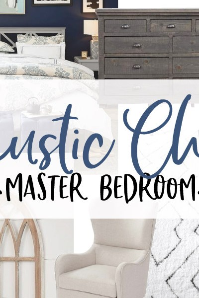Rustic Chic Master Bedroom // ORC Week-3: Late Start!