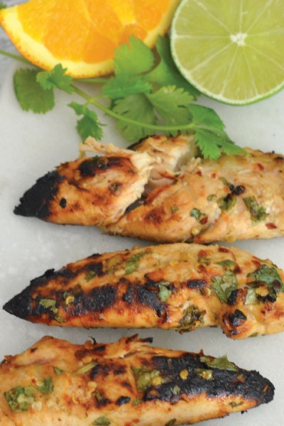 Grilled Orange Cilantro Chili Lime Chicken