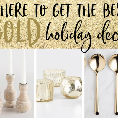 Gold Holiday Decor + the Golden Bell Scavenger Hunt!