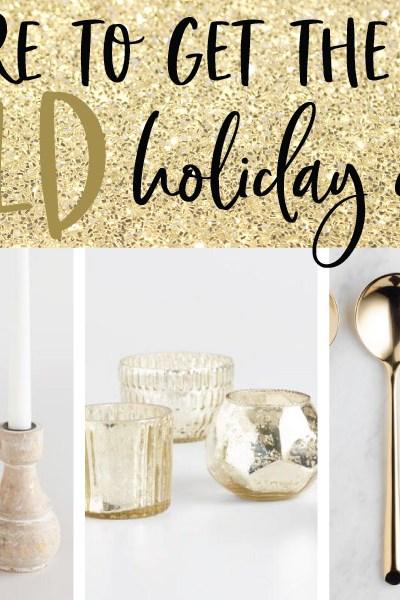 Gold Holiday Decor + the Golden Bell Scavenger Hunt!