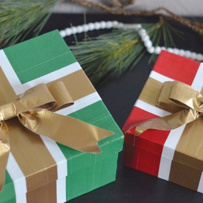 Holiday Gift Wrap with Duck Tape®!