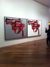 Gun 1981 Acrylic paint and silkscreen