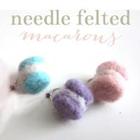 Needle Felted Macaron