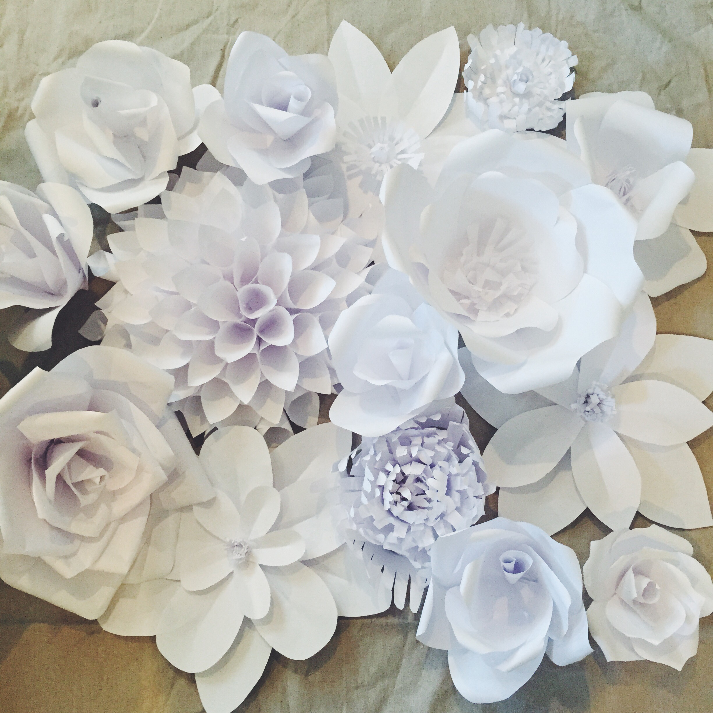 Paper Flower Backdrop Flower 1 Ash And Crafts