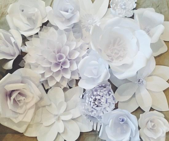 Paper flower backdrop ash and crafts paper flower backdrop flower 1 mightylinksfo