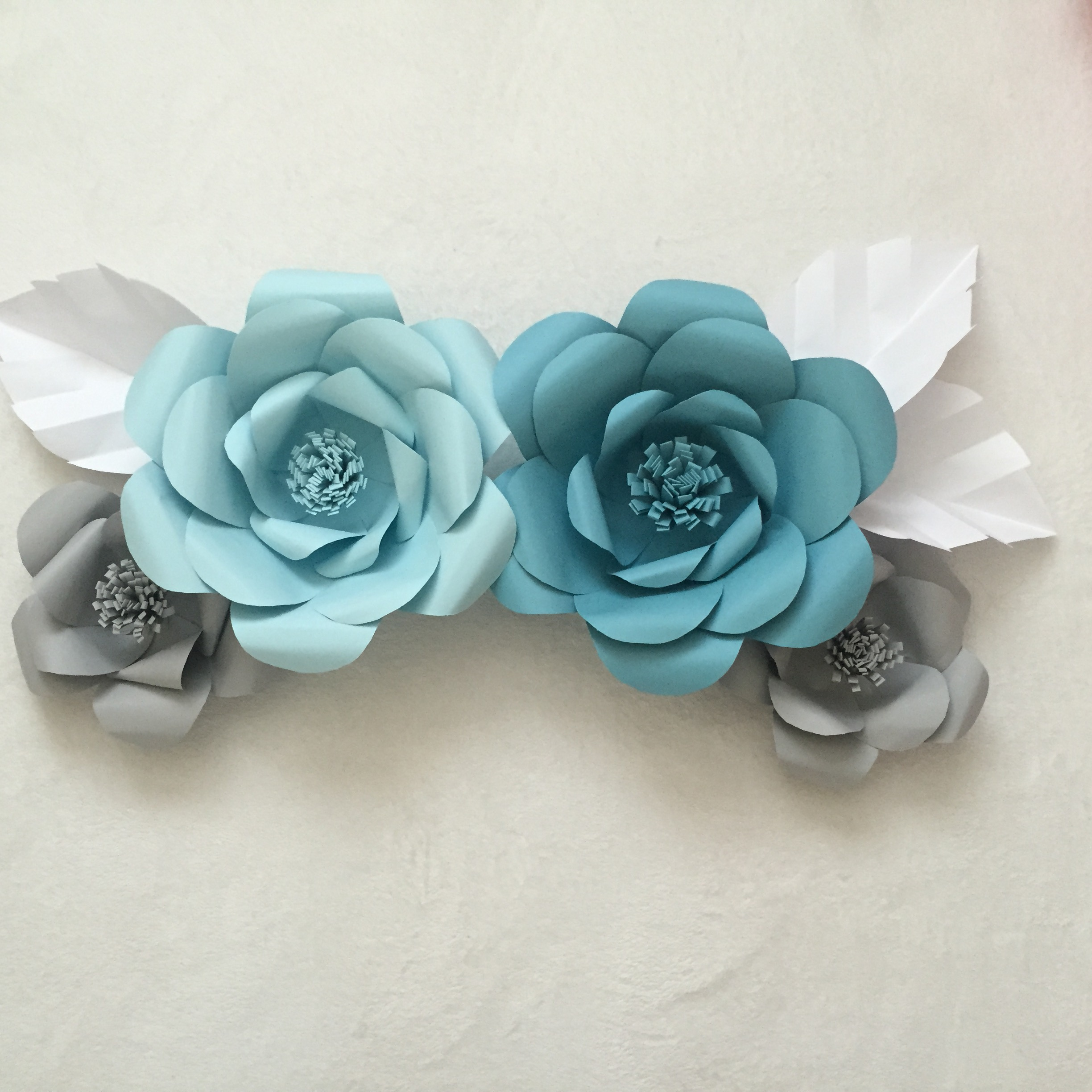 Paper flower backdrop ash and crafts with these flowers you can draw petals in any shape you like just make sure make each petal layer smaller than mightylinksfo