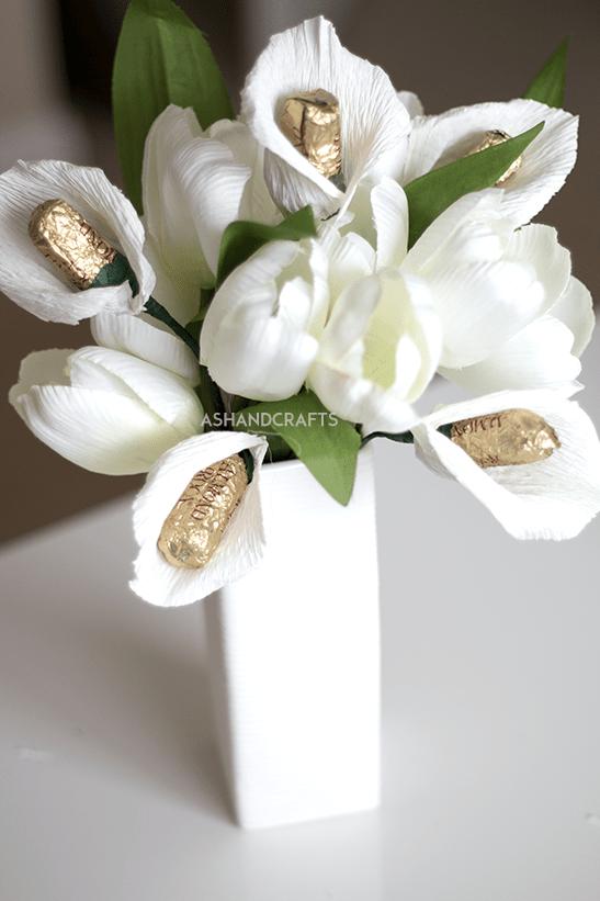 Crepe Paper Calla Lily Tutorial | ashandcrafts.com