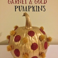 DIY Garnet & Gold Pumpkins