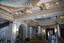 The ceiling in the foyer