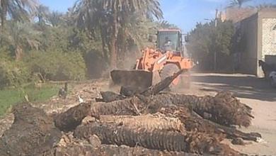 رفع 80 طن تراكمات ومخلفات خلال حملة نظافة بمدينة البياضية فى الاقصر
