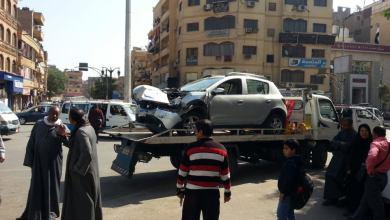 حادث مروع بين سيارة ملاكى وتوك توك بوسط الأقصر