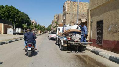 رئيس مدينة البياضية بالأقصر: رش الشوارع الرئيسية بمواد مطهرة لمواجهة فيروس كورونا