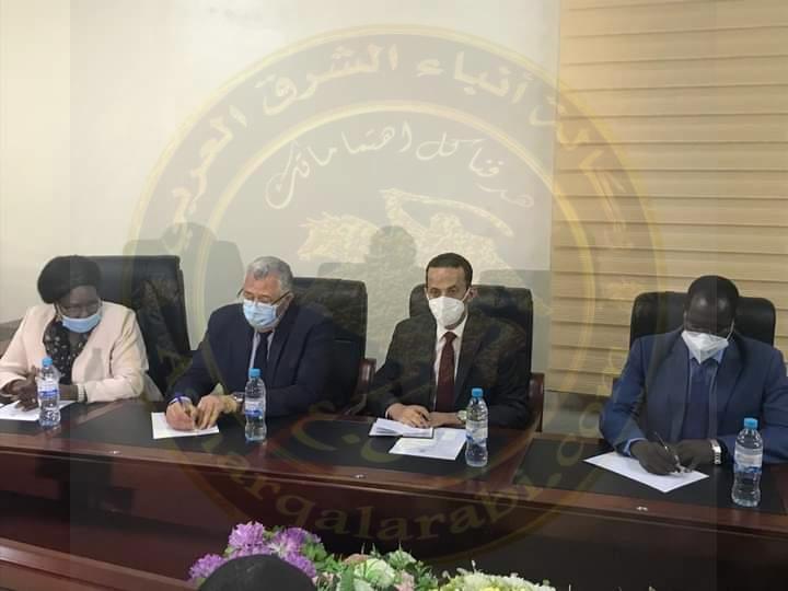 الفصير_يستعرض مع محافظ اقليم المنطقة الاستوائية بجنوب السودان أوجه التعاون بين البلدين