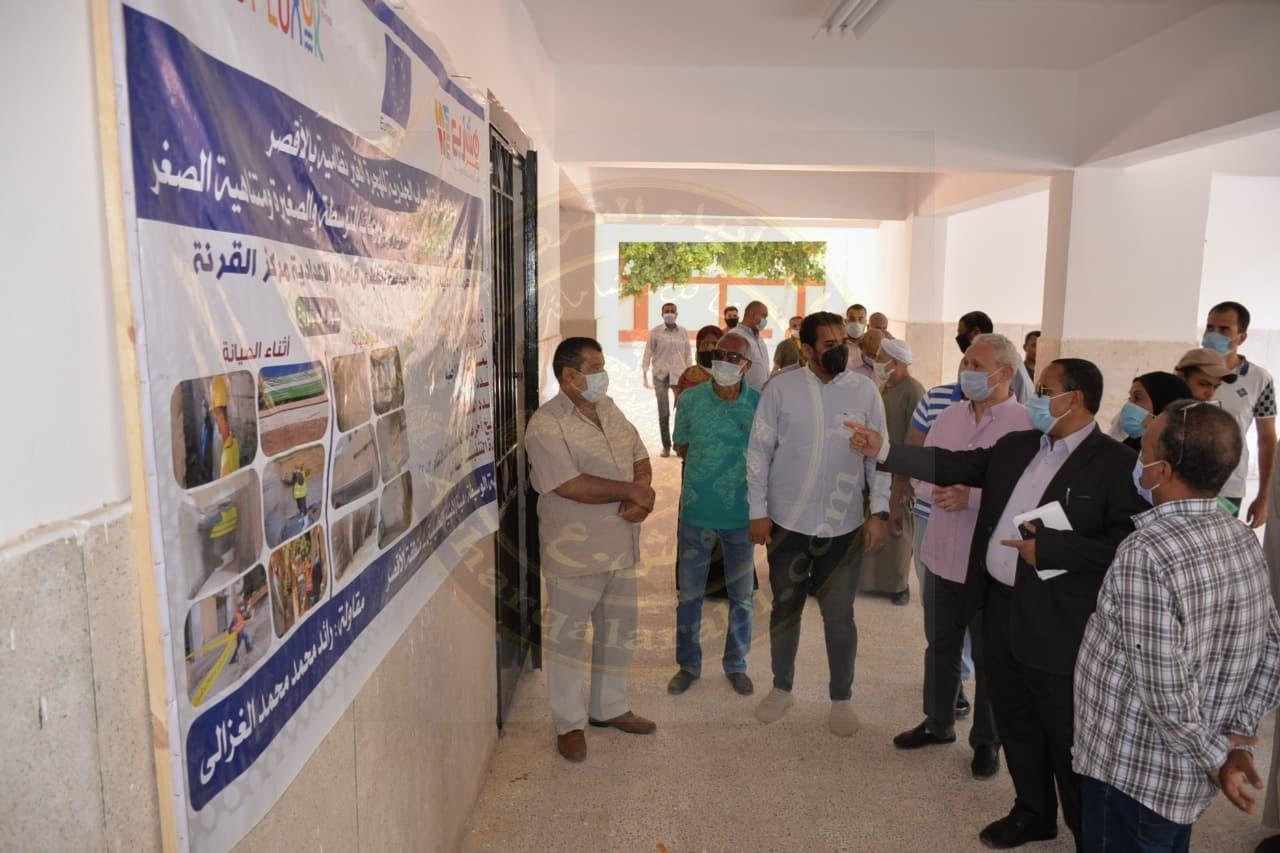 الإنتهاء من رصف طريق قرية الأرامل بتمويل الاتحاد الأوربي بالقرنة غرب الأقصر