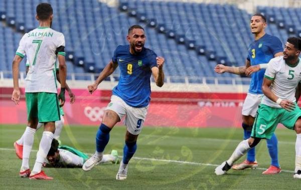 طوكيو 2020: البرازيل  بعد فوزها على السعودية 3-1  إلى ربع نهائي